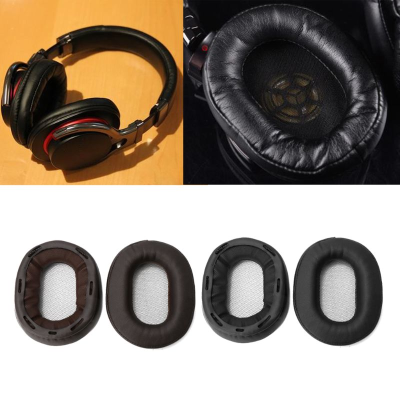 1Pair Replacement Earpads Earmuff Cushion For SONY MDR-1R MK2 1RBT 1ADAC MDR-1A 1ABT Protein Softer Leather Ear Pad Earphone