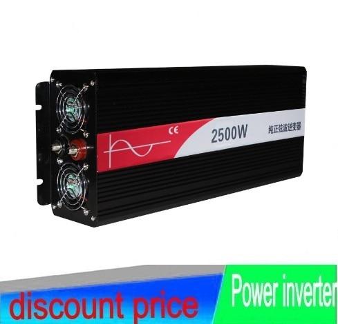 цена на potenco inverter Pura sinusa ondo inverter 2500w pure sine wave power inverter 12v 220v dc ac 2500W ren sinus inverter