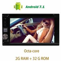 Android 7 1 Car Stereo Headunit 2Din DVD CD Player GPS Navigation Support WiFi 4G 3G