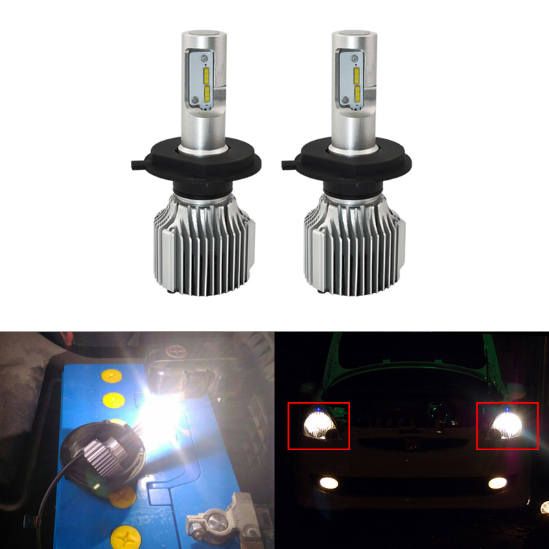 Fit For Honda Fit/Jazz 2009-2013 Led Light Bubs Kit For Car Driving Headlight Replacement Bulbs High/Low Beam Car-Styling