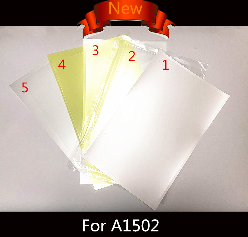 New LED LCD Screen Display Back Rear Reflective Sheets for MacBook Pro Retina 12A1534 13 A1502 15 A1398 Backlight 100%Working new lcd led screen display backlight cd screen display back rear reflective sheets 5pcs for laptop macbook air 11 6 a1370 a1465
