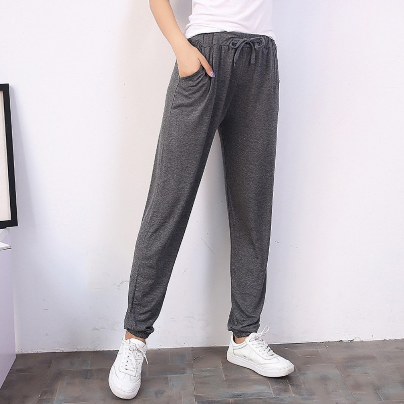 2018 Spring And Summer Women Casual Sweatpants Black Pant Ladies Loose Trousers Joggers Sweat Pants