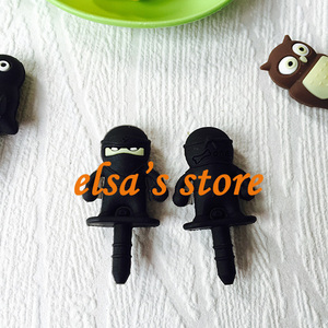 Image 5 - 30pcs kawaii gadget mixed anime earphone dust plug to phone 3.5mm jack plug for headphones for iphone sumsang free shipping