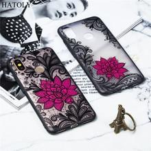 Xiaomi Mi A2 Case Cover TPU +PC Lace Rose Flower 6X Phone Funda Bumper Capa