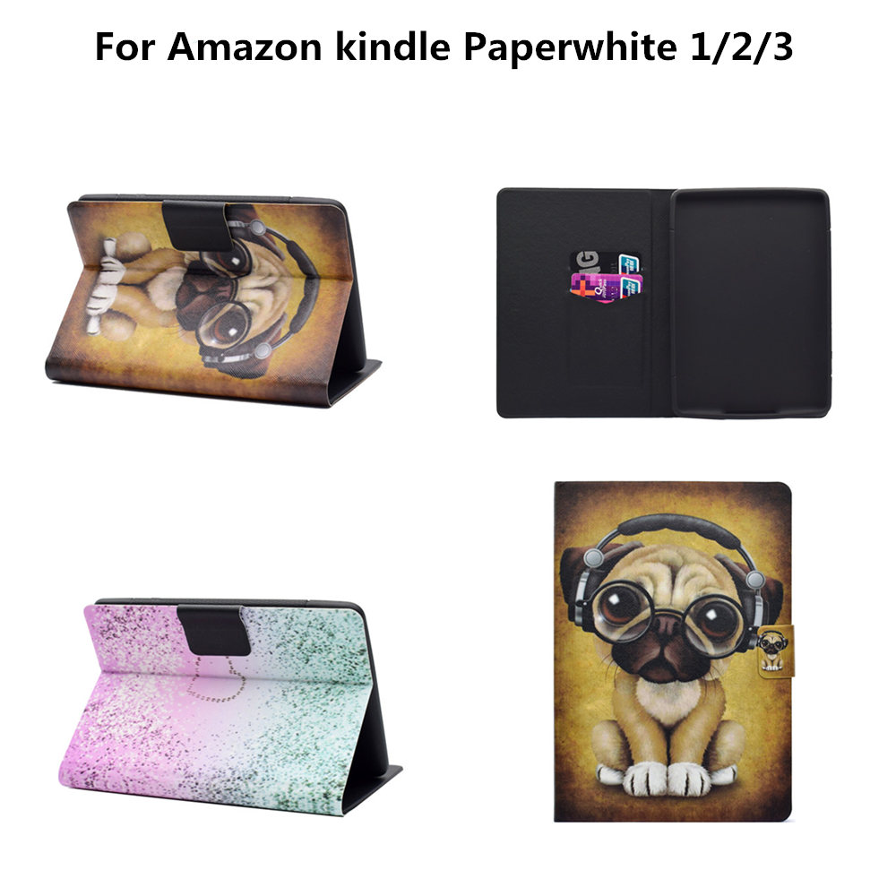 Fashion Flip Folding Stand Cute Case Cover For Amazon kindle paperwhite 1 2 3 2016 2015 2013 2012 6th generation E-BOOK cases for amazon 2017 new kindle fire hd 8 armor shockproof hybrid heavy duty protective stand cover case for kindle fire hd8 2017