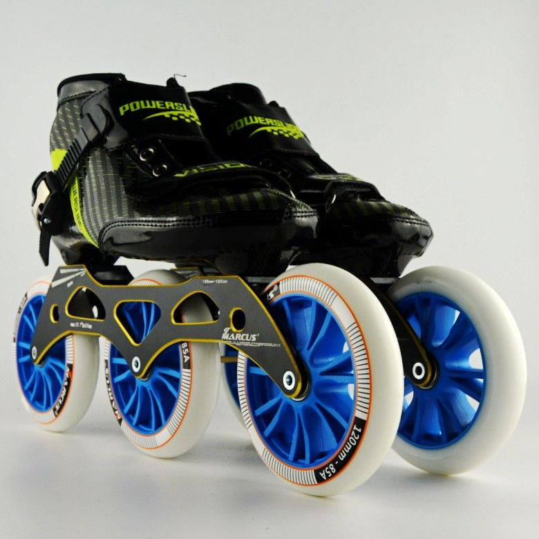Powerslide VISION chaussures de patinage en ligne trois chaussures de patinage de vitesse skate 120 chaussures de patinage à roulettes