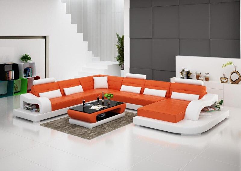 living room sofa with orange color. Interior Design Ideas. Home Design Ideas