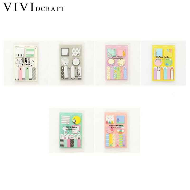 Vividcraft Cartoon Message Stickers Notes New Animals Party Memo Pad Weekly Schedule Memo Notepad Post Stickers Office Supplies