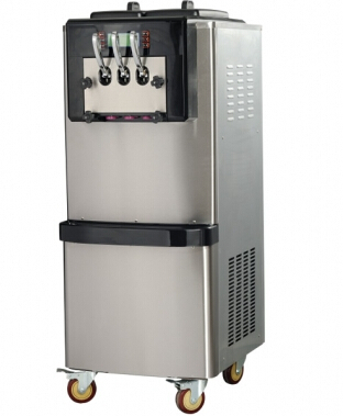 RY BX728CTR 68 72L/H vertical ice cream machine Dual system/ soft ice cream machine,stainless steel ice cream maker