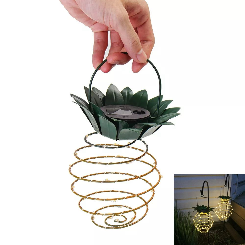Led Solar Pineapple Lights Hanging Fairy String lamp Waterproof lighting for Outdoor Garden Path Decor