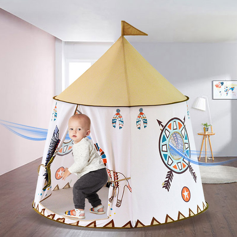 Little Lion Castle Indian Tent Indoor And Outdoor Baby Toy Children's Tent Game House For Baby Gifts