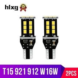 hlxg 2PCS W16W T15 Led Reverse Backup Light Brake Parking Bulb for Car Auto Vehicle Car Styling 12V 6000K Clearance Reading Lamp