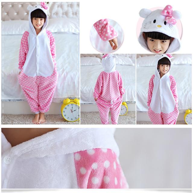 Navidad de Los Bebés Poco burro Niños pijamas conjuntos Niño del Pijama de Franela Puntada Animal Pijamas Onesies Niños Ropa