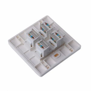 Image 3 - Wall Plate 4 Ports CAT5e/CAT6 RJ45 Jack Network Socket 86mm Standard Wall Plate high Quality