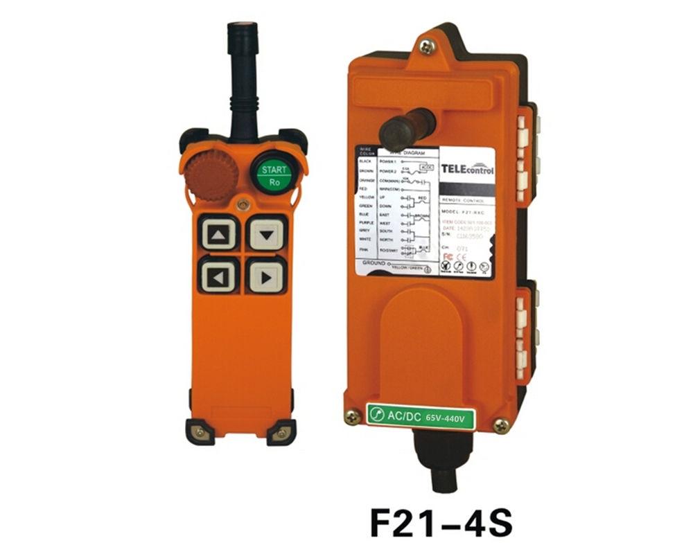 F21-4S AC/DC65V-440V(1 Transmitter + 1 Receiver) Hoist Crane Wireless Remote Control /Radio Remote Switch f21 2d hoist crane wireless remote control switch double speed button 1 transmitter 1 receiver 65 440v