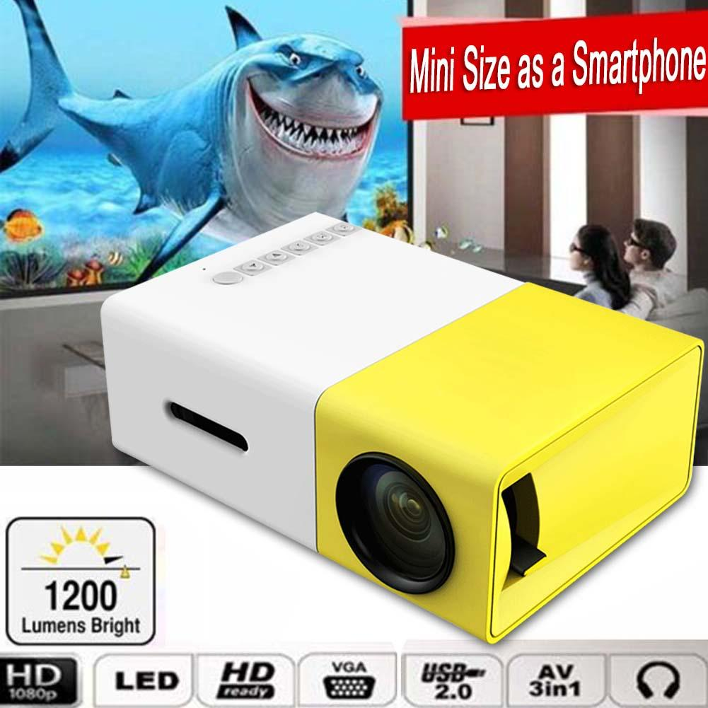 Mini 1080 P Full HD LED Proyector LCD de Cine en Casa Inteligente AV HDMI Multim