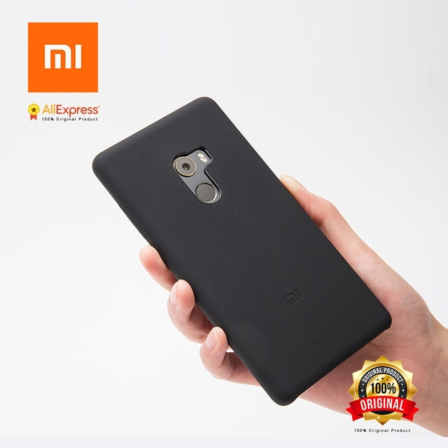 cheap for discount f47ae efba0 US $6.0 |Xiaomi Mi MIX 2 Silicone Case Original Mi Mix2 Silicone PC MiMix2  Cover Black and PET Screen Protector (Mi MIX 2)-in Fitted Cases from ...