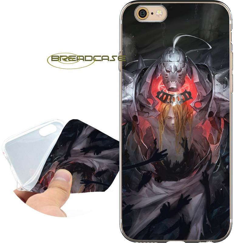 Coque Стальной алхимик телефона чехол для iPhone 10X8 7 6 S 6 Plus 5S SE 5 5C 4S 4 iPod Touch 6 5 мягкий прозрачный ТПУ силиконовый чехол.