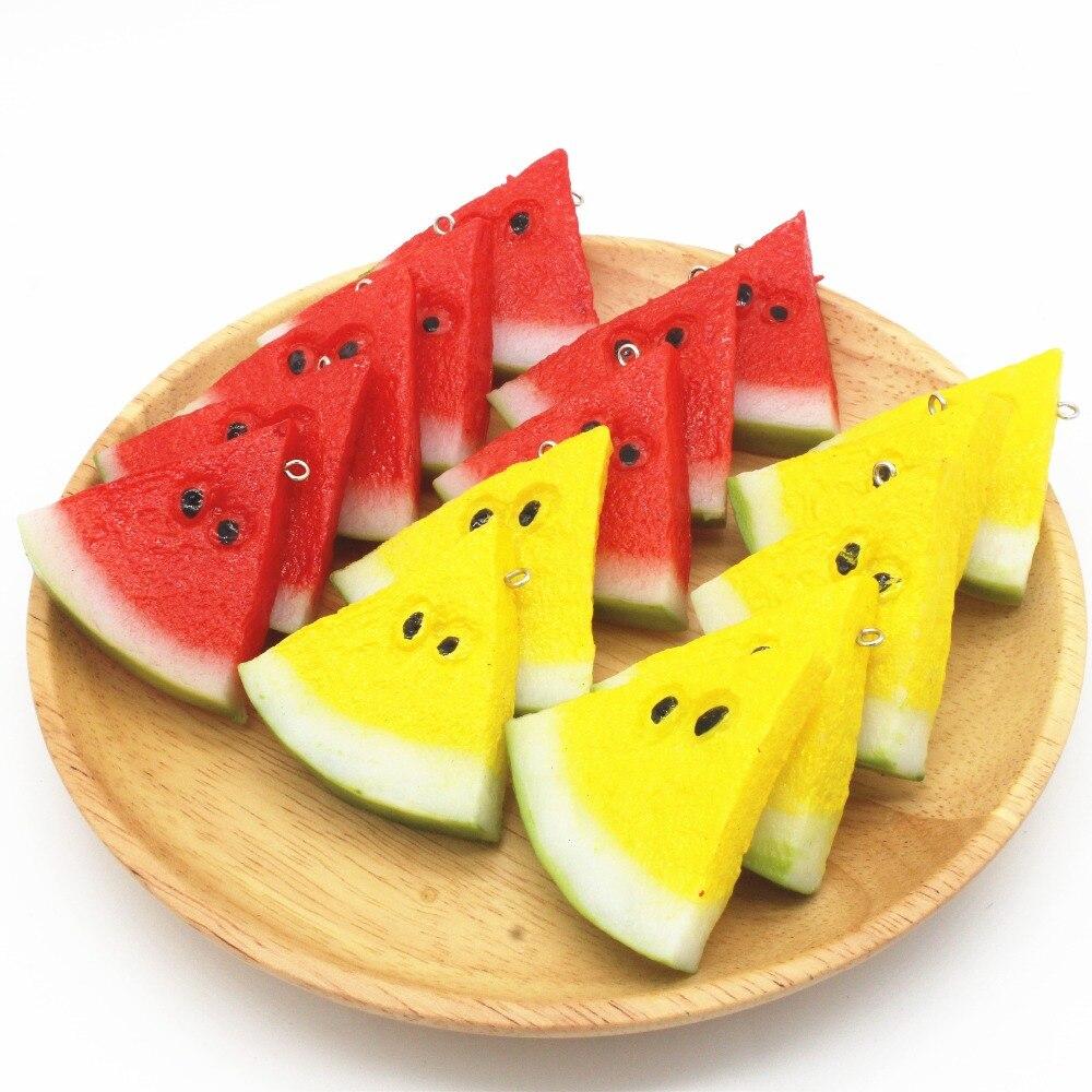 Baguette En Bois Decorative us $16.66 |artificial fruit watermelon slice model cabinet shop decoration  artificial watermelon slice-in artificial & dried flowers from home &