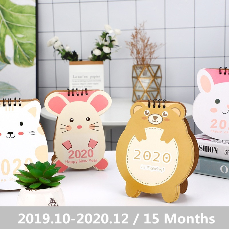 2020 Cute Cat And Mouse Cartoon Animals Desktop Calendar Daily Scheduler Planner Yearly Agenda Organizer