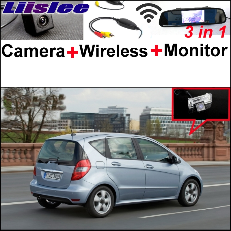 Liislee Special Camera Wireless Receiver + Mirror Monitor Easy Parking System For Mercedes Benz MB W169 A160 A180 A200 A150 A170 liislee for mercedes benz cl mb w216 cls w218 special camera wireless receiver mirror screen 3in1 backup parking system