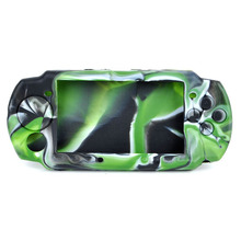Camouflage Silicone Protective Case for PSP 3000/2000 Gamepad Protective Cover Game Accessories  & protective socks for psp 1000 2000 3000 purple 2 sock pack