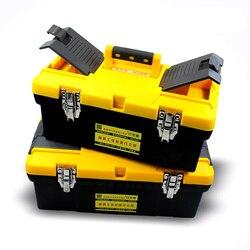 14 17 20 polegada caixa de ferramentas de plástico com alça broca elétrica acessórios caixa armazenamento e organizadores do compartimento bandeja arte