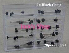 Envío gratis 20 unids acero inoxidable negro venda de reloj barras de primavera correa pasadores