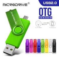 Movimentação da pena do flash de usb 8 gb 4 gb para o smartphone otg 2 em 1 movimentação do flash de usb pendrive 128 gb 64 gb usb 2.0 da vara da memória 32 gb 16 gb
