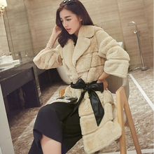 Высокое качество Настоящее Меховые пальто кролика пальто с мехом куртка-пальто женские зимние толстые теплые из натурального меха Верхняя одежда