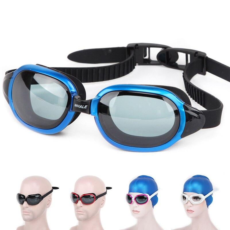 Ballena cf8600 de silicona a prueba de agua gafas de natación Anti-niebla UV nadar gafas para hombres y mujeres pobres con caja envío Gratis