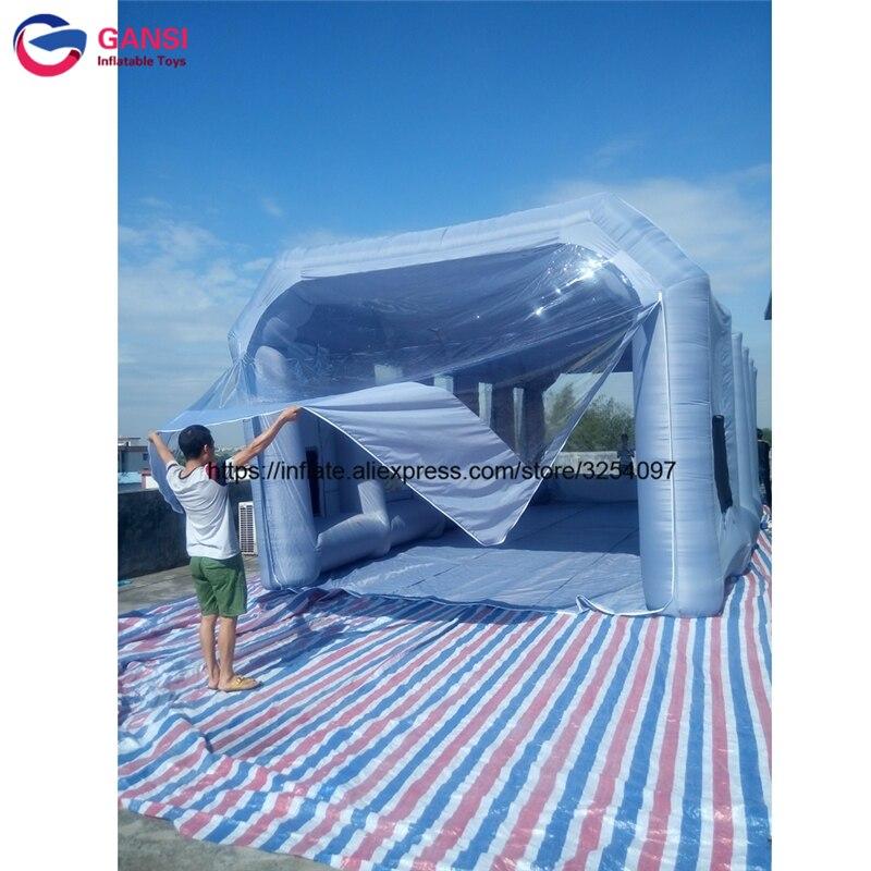 Открытый надувные paint booth 10 м * 5 м * 3.5 м Покраска Автомобиля Палатка автомобиль номер портативный надувные спрей стенд для автомобиля живопис