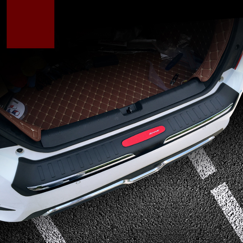 lsrtw2017 car-styling car trunk trim inside and outside for honda civic 2016 2017 2018 10th civic