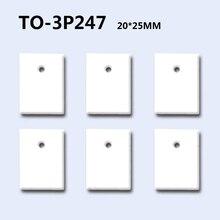 50 шт. TO-3P247 глинозема керамики изоляционной оболочкой MOS транзисторы IGBT охлаждения колодки оксидная прокладка излучающих 20*25*0,635 мм 4 мм отверстие