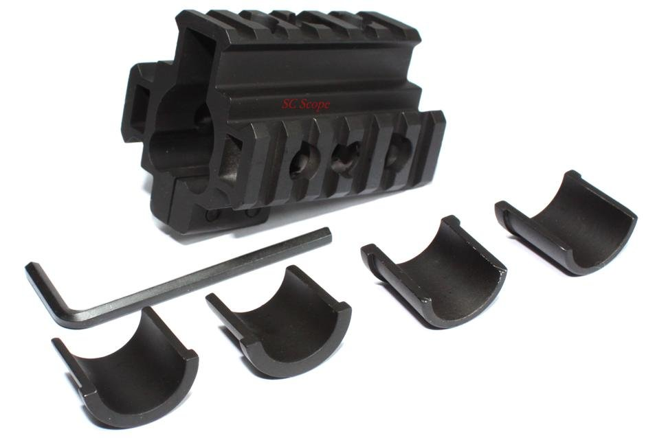 Lots of 7pcs Universal AR-15 M4 M16 Rifle Gun Barrel Triple Picatinny Rails Mount Metal Clamp Accessories