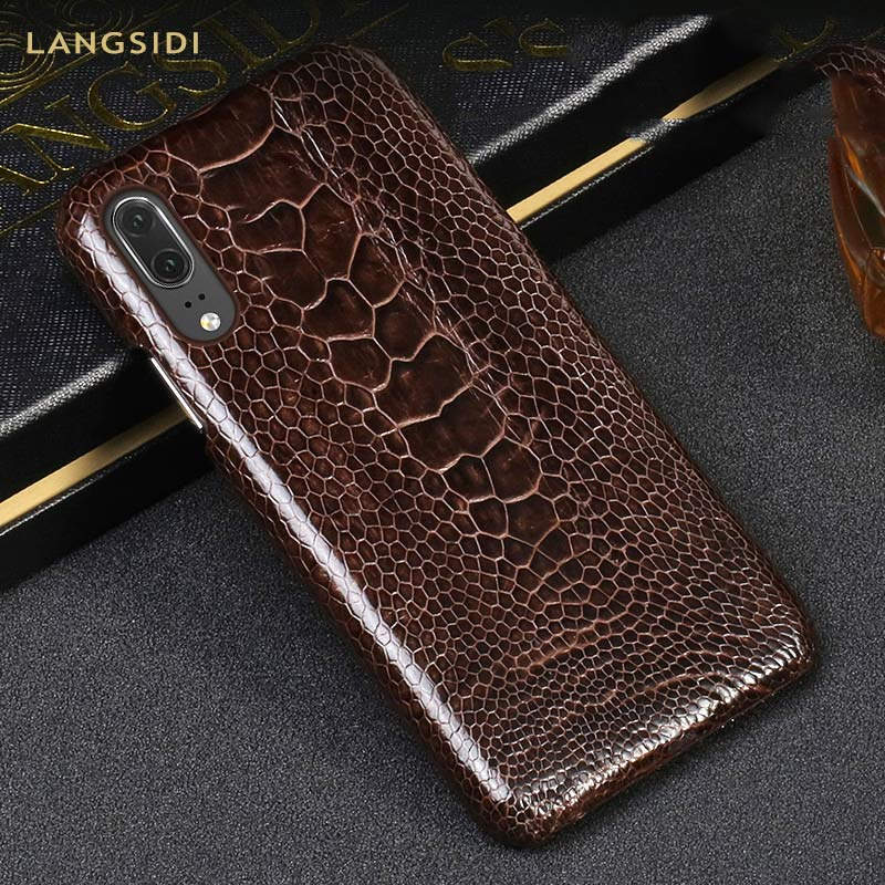 Ostrich Genuine Leather phone case for huawei p20 pro case High end damping protective case for huawei p30 pro mate 20 proOstrich Genuine Leather phone case for huawei p20 pro case High end damping protective case for huawei p30 pro mate 20 pro