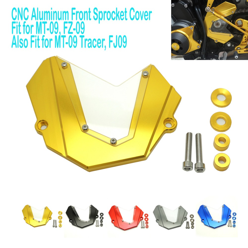 MT09 Front Chain Sprocket Cover For Yamaha MT-09 FZ-09 FJ-09 MT09 Tracer 2013-2016 5 Colors for Option sep motorcycle accessories carbon fiber engine sprocket chain case cover clutch cover for yamaha mt09 fz09 tracer fj09 2014 2017