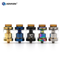 100 Advken Authentic Manta RTA 24mm Rebuildable Vaping Tank 3 5ML 5ML Ecig Atomizer In Blk