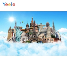 Yeele Famous Buildings Cloud Travel To World Backdrops Photography Backgrounds Customized Photographic Backdrop For Photo Studio