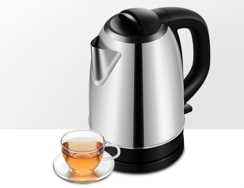electric kettle has 1.7 liter boiling water 304 stainless steel automatic quick pot Overheat Protection купить в Москве 2019