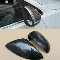 Replacement Golf 7 MK7 Carbon Fiber rear Review Mirror Cover Caps For Volkswagen Golf7 MK7 R 2014UP free shipping