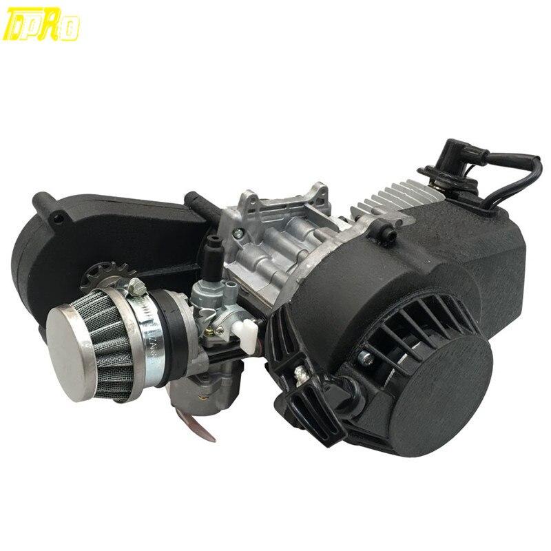 Véritable nouveau moteur 49cc moteur 2 temps Quad Bike pièces de vélo de poche moto et Transmission