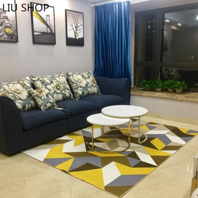 LIU Modern simple geometric carpet living room coffee table sofa ...