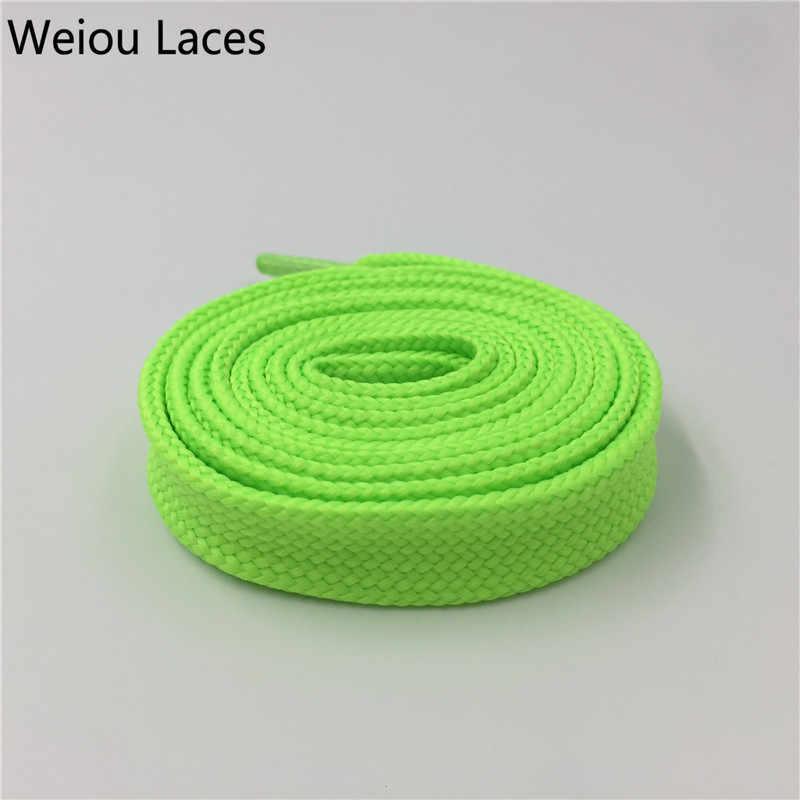 Weiou Ağır Çizme Bağcıkları Sneaker Renkli Atletik Tasarımcı Düz Geniş Ayakkabı Dizeleri 1.8 cm/0.7 ''Yağ Ayakabı bayan Kadın için