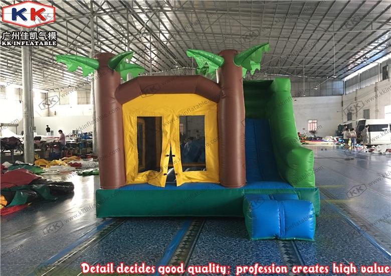 Inflatable Coconut Tree Bouncer Slide Combo kids mini combo house