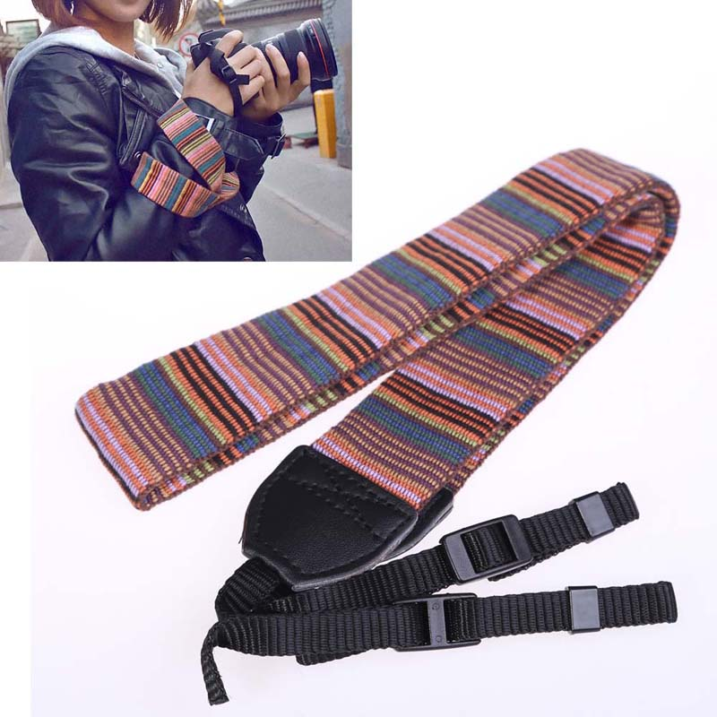 Polyester Camera Neck Strap Camera Accessories Fashion Camera Strap for SLR DSLR Camera Color Blocking Tool