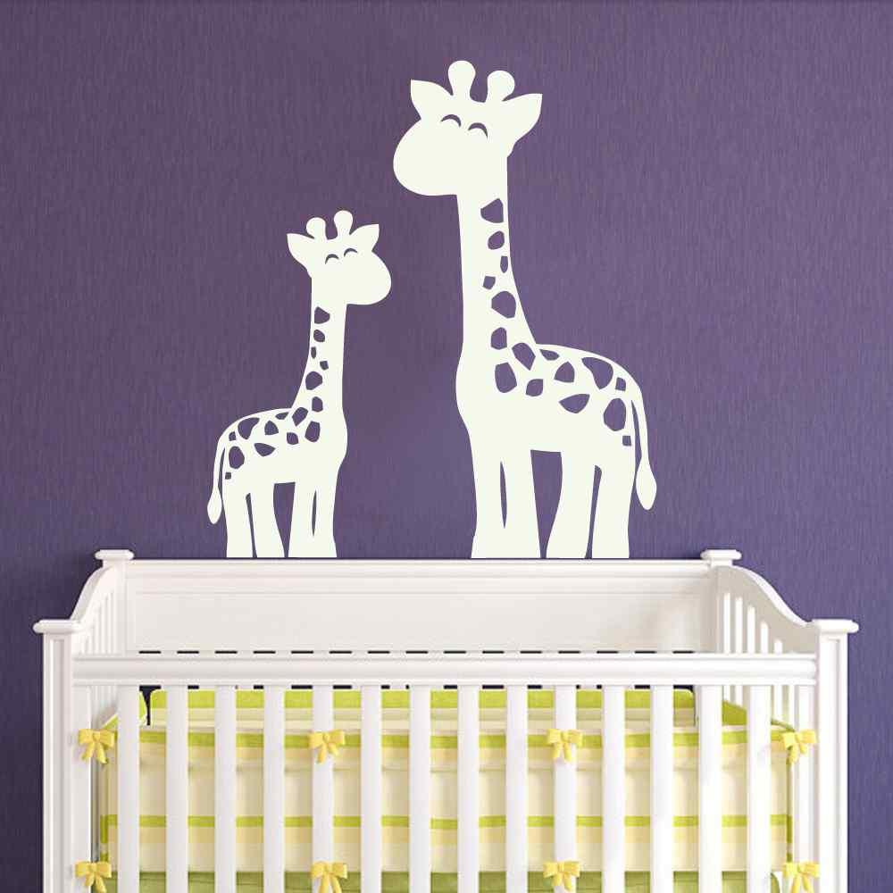 Giraffe Wandtattoo Dschungel safari Kinderzimmer Aufkleber Decor ...