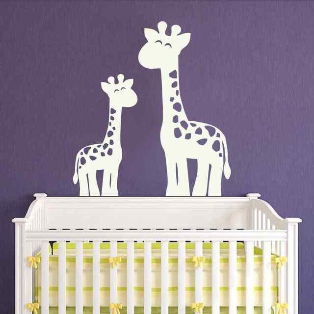 Giraffe Wandtattoo Dschungel Safari Kinderzimmer Aufkleber Decor