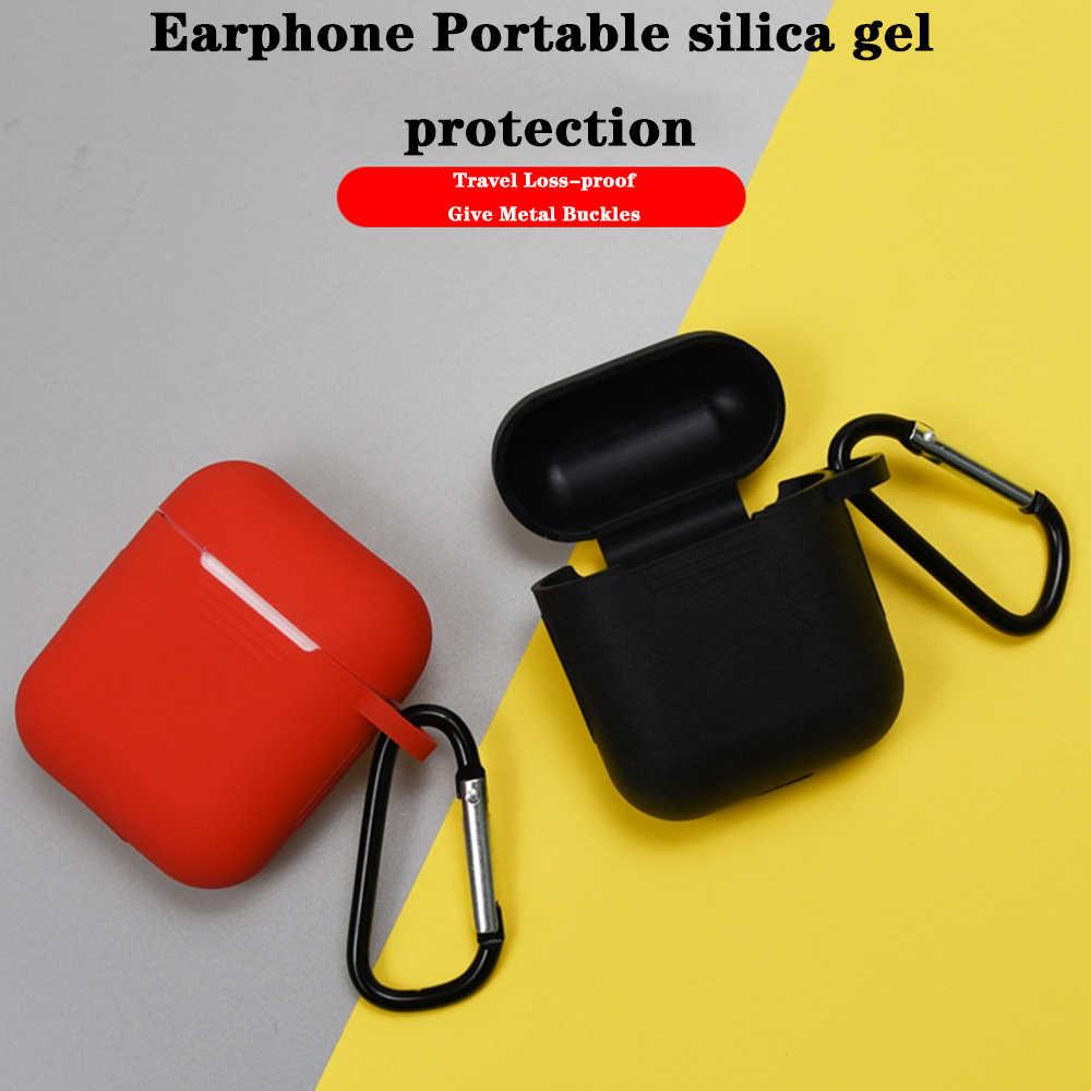 TPU silikonowa osłona ochronna AirPod przypadku Earpod ustawić połączenie dla i30 i60 i80 bezprzewodowe słuchawki Anti-Lost Rope zatyczki do uszu z długim rękawem