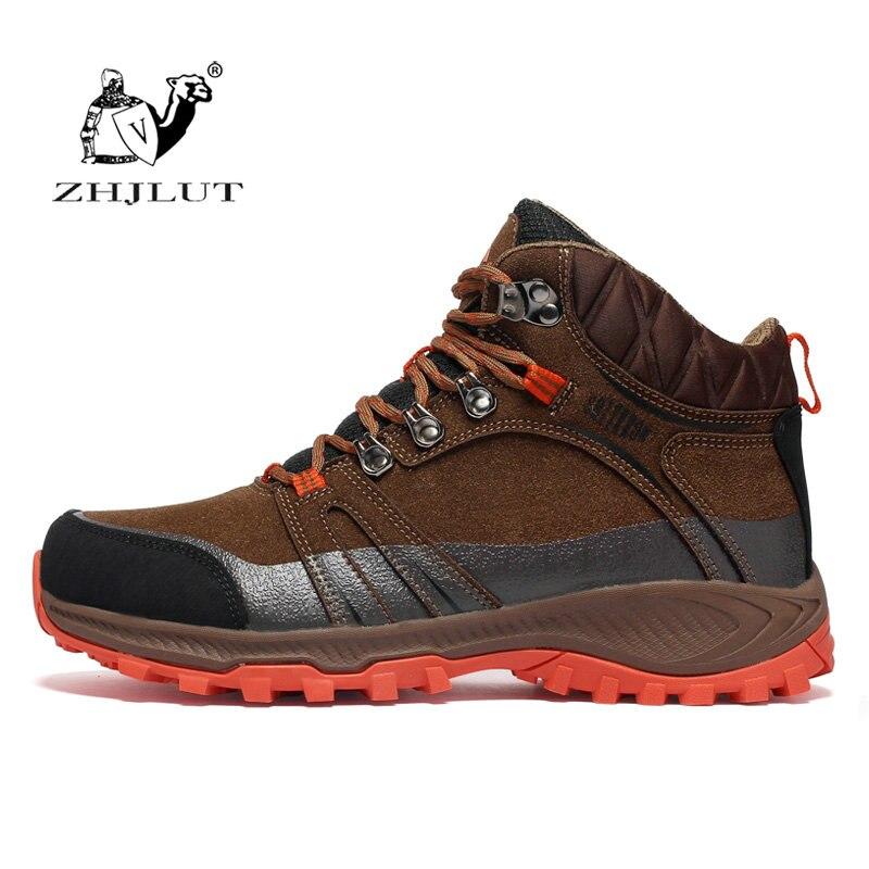 ZHJLUT походная обувь для мужчин, обувь для альпинизма унисекс, высокое качество, уличная Треккинговая обувь, дышащие походные охотничьи ботин...